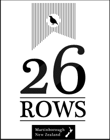 26 Rows Vineyard, Martinborough, New Zealand, Logo